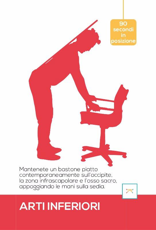 esercizio per migliorare la postura alla sedia