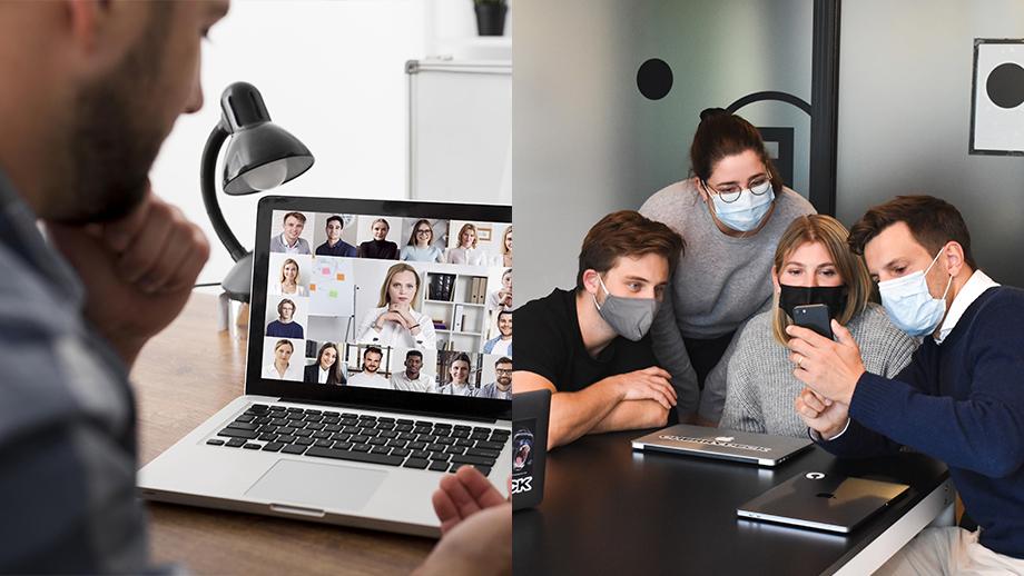 Team di lavoro ibridi: l'importanza della formazione dei lavoratori divisi tra home working e lavoro in sede
